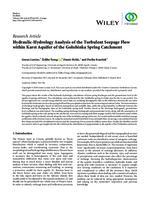 prikaz prve stranice dokumenta Hydraulic-Hydrology Analysis of the Turbulent Seepage Flow within Karst Aquifer of the Golubinka Spring Catchment