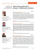 prikaz prve stranice dokumenta Optimizacija građevinskih procesa – metode, alati i primjena