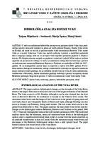 prikaz prve stranice dokumenta Hidrološka analiza rijeke Vuke
