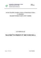 prikaz prve stranice dokumenta MATRIČNI PRISTUP METODI SILA