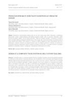 prikaz prve stranice dokumenta PRORAČUN SPREGNUTE REŠETKASTE KONSTRUKCIJE VIŠEKATNE ZGRADE