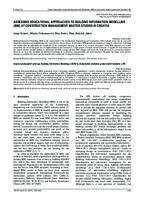 prikaz prve stranice dokumenta ASSESSING EDUCATIONAL APPROACHES TO BUILDING INFORMATION MODELLING (BIM) AT CONSTRUCTION MANAGEMENT MASTER STUDIES IN CROATIA