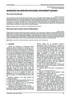 prikaz prve stranice dokumenta MAINTENANCE AND OPERATION COSTS MODEL FOR UNIVERSITY BUILDINGS