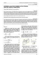 prikaz prve stranice dokumenta EXPERIMENTAL ANALYSIS OF COMBINED ACTION OF BENDING, SHEAR AND TORSION ON TIMBER BEAMS